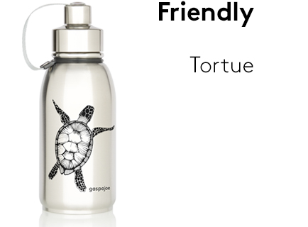 Image Friendly_gourde_isotherme_inox_tortue_noire